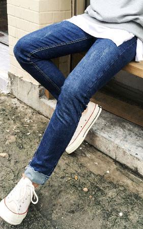 Slab Washing Rollup Denim Jeans
