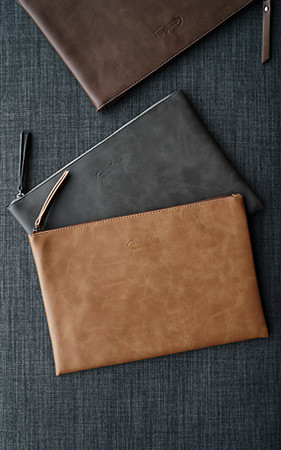simple leather Clutch Bag
